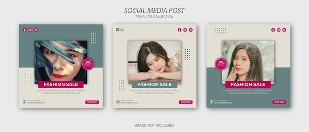 Modello di post sui social media di moda