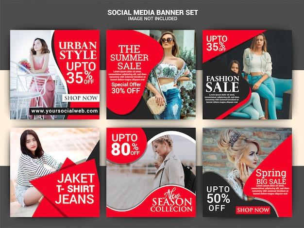 Moda modello di media sociali post