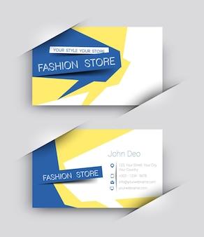 Set di biglietti da visita del negozio di moda
