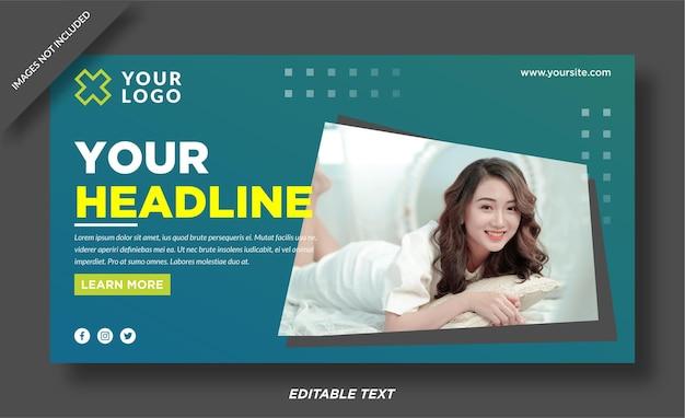 Design del modello di banner web in stile moda