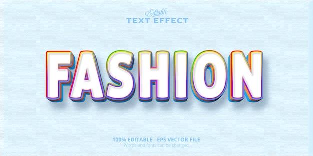 Testo alla moda, stile colorato, effetto testo modificabile