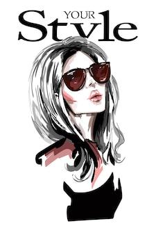 Moda donna in occhiali da sole