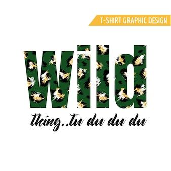 Design alla moda della maglietta con lo slogan del modello leopardo. sfondo di pelle di animale maculato stilizzato con glitter dorati per moda, stampa, carta da parati, tessuto. illustrazione vettoriale