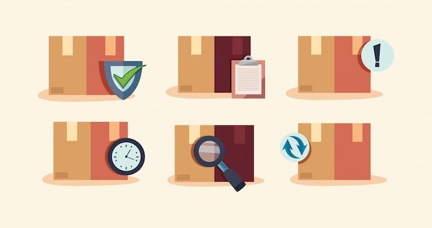 Illustrazione rapida relativa alla consegna veloce