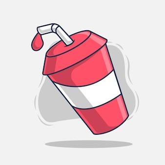 Illustrazione di vettore dell'icona della bevanda degli alimenti a rapida preparazione