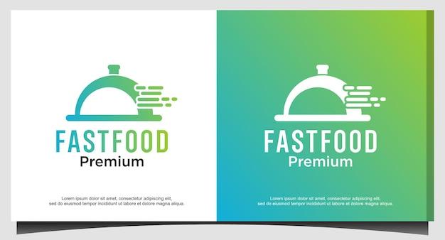 Progettazione del logo di fast food o consegna di cibo