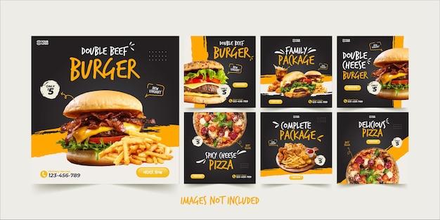 Modello di instagram di fast food