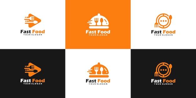 Modelli di design della collezione di logo di fast food