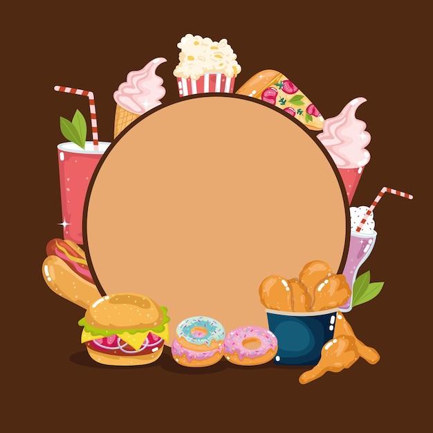 Ristorante con menu fast food