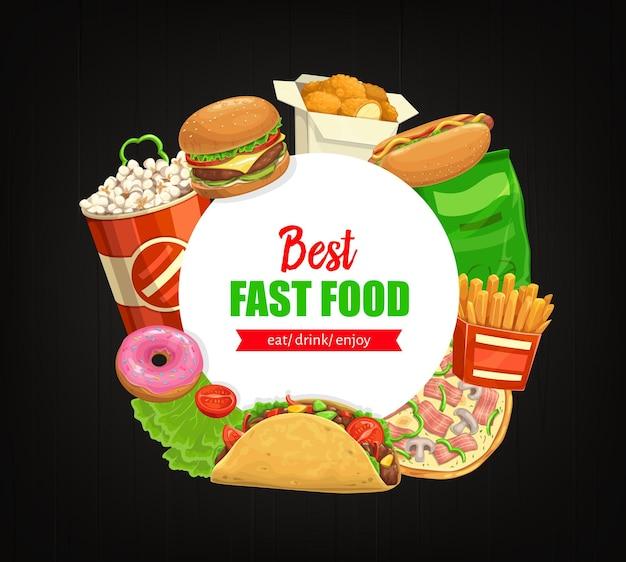 Popcorn banner rotondo fast food