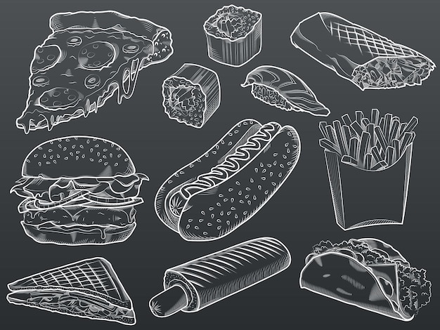 Illustrazione stabilita di fast food