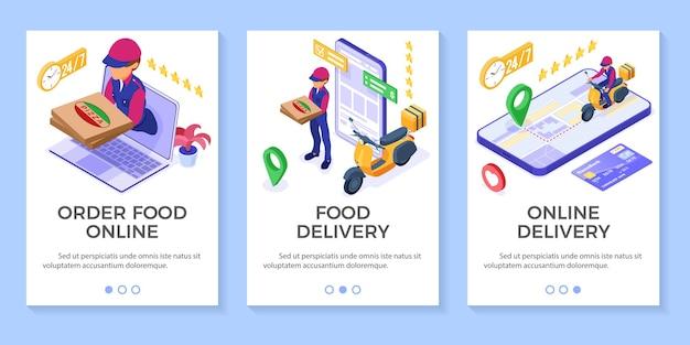 Ordine di cibo online veloce e gratuito e servizio di consegna pacchi.