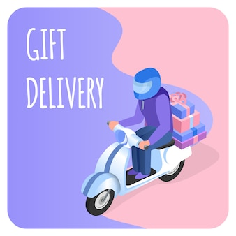 Modello di consegna regalo veloce