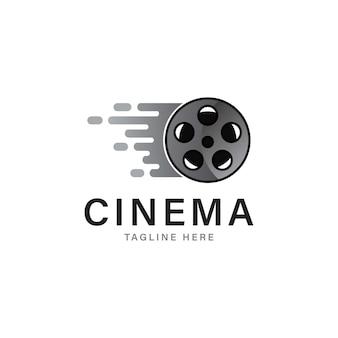 Disegno del modello di logo di film veloce