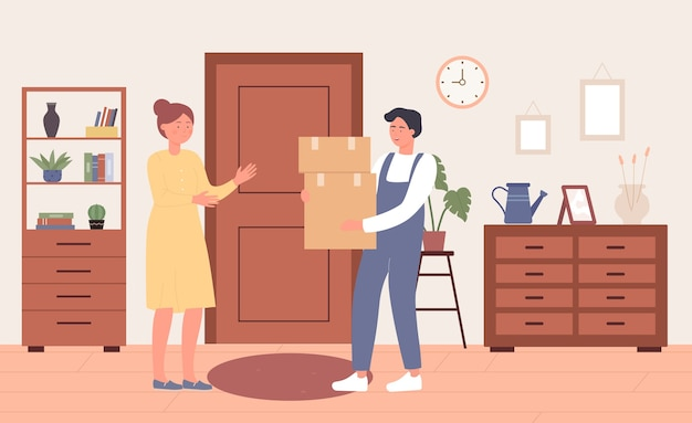 Servizio postale di consegna online veloce a domicilio tramite corriere