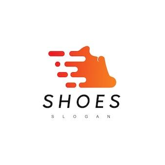 Fast running scarpe uomo logo design ispirazione