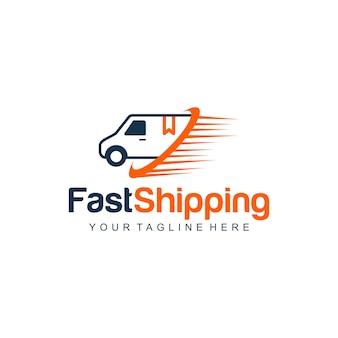 Logo di spedizione veloce