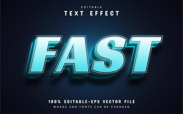 Testo veloce, effetto testo sfumato 3d