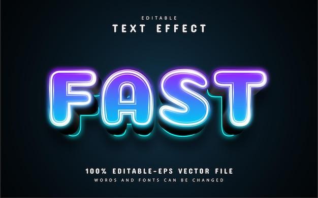 Testo veloce, effetto di testo 3d modificabile