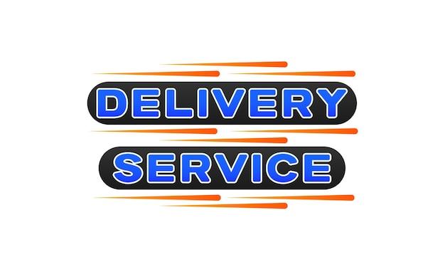 Ordine di consegna in tempi rapidi con l'icona del banner del logo della consegna espressa del cronometro