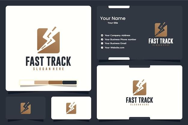 Fast track, flash, ispirazione per il design del logo