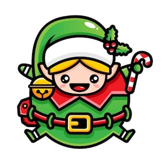 Illustrazione di grasso carino elfo