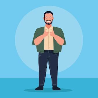 Icona del personaggio avatar uomo grasso