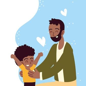 Padre che gioca con il figlio