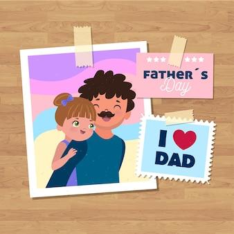 Festa del papà sullo sfondo