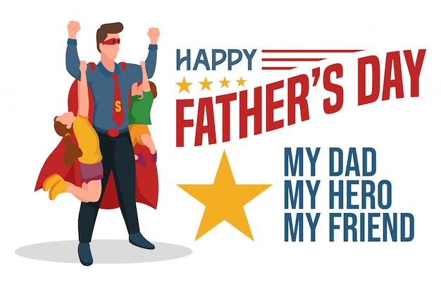 Festa del papà. illustrazione di saluto.