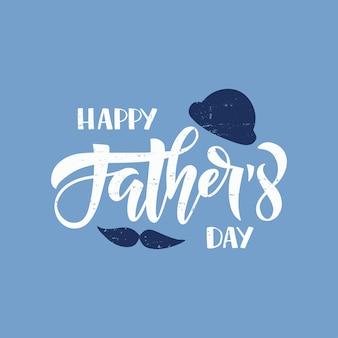 Illustrazione di festa del papà. citazione di lettere disegnate a mano testo di celebrazione felice festa del papà