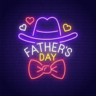 Insegna al neon per la festa del papà