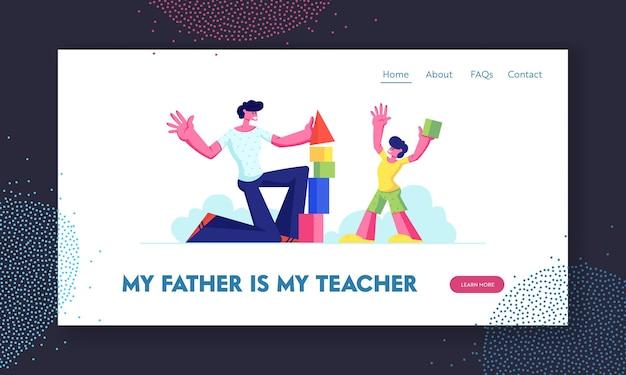 Pagina di destinazione del sito web del gioco di padre e figlio