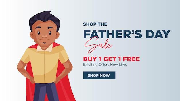 Modello di progettazione banner vendita festa del papà