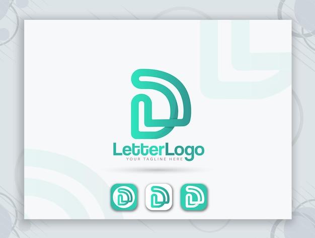 Design favicon e design del logo della lettera