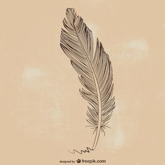 Feather pen illustrazione