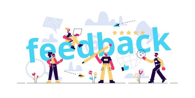 Illustrazione del concetto di feedback