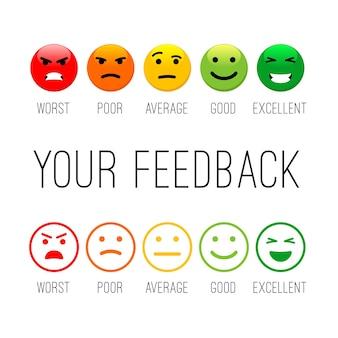 Icone di emozione di feedback.