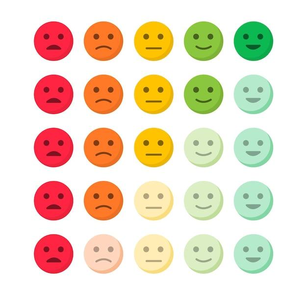 Feedback emozioni livello di soddisfazione