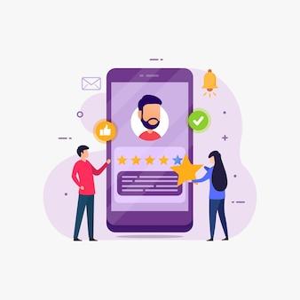 Feedback e dare il concetto di design di valutazione