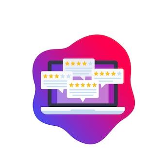 Illustrazione di feedback e recensioni