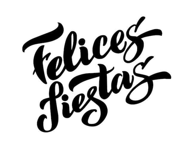 Felices fiestas per lo spagnolo biglietto di auguri poster banner vacanza pilota buone vacanze vettore