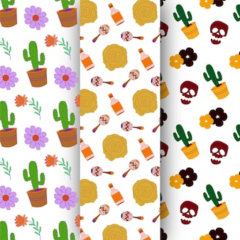 Feliz dia de muertos seamless pattern