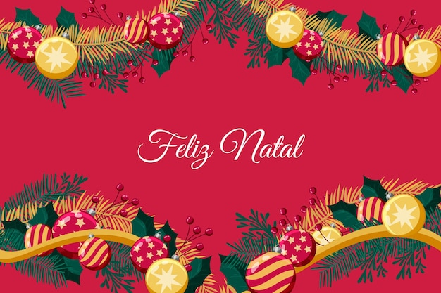 Feliz natal concept in design piatto