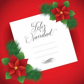 Feliz navidad (buon natale in spagnolo) nota - copia spazio