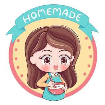 Illustrazione femminile del panettiere