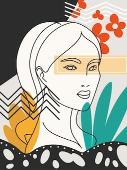Stile di natura astratta contemporanea femminile