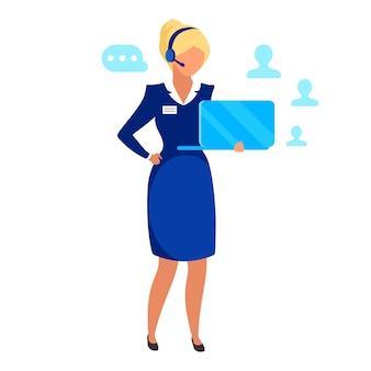 Illustrazione imprenditrice femminile. Vettore Premium