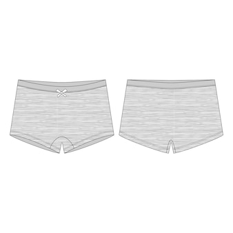 Mutandine femminili. mini mutande corte in tessuto melange per bambini