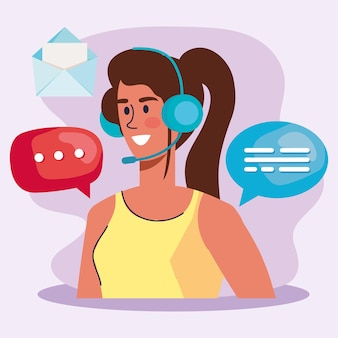 Call center operatore femminile